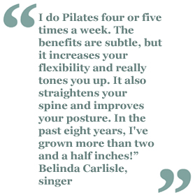 Belinda Carlisle Pilates Quote